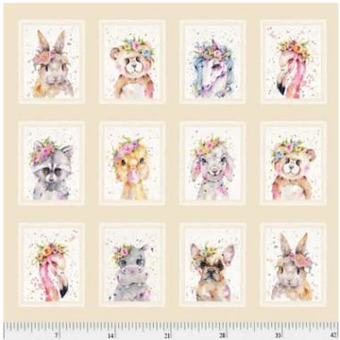Little Darlings Fabric Panel  Sillier than Sally Designs