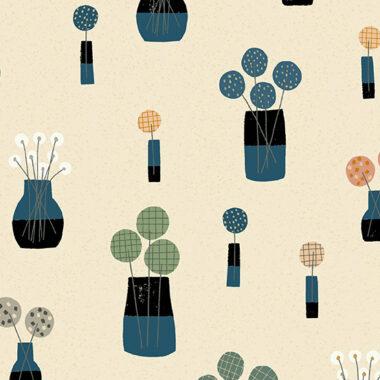 Perennial Patchwork Bouquet Ceramic Makower