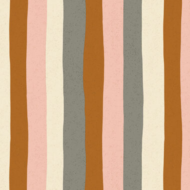 Perennial Stripes Pink Lemonade Ceramic Makower