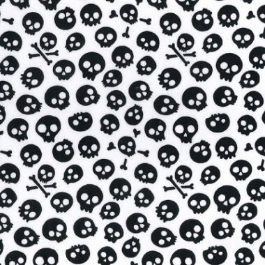 Scary Skull Halloween Poly/Cotton Fabric