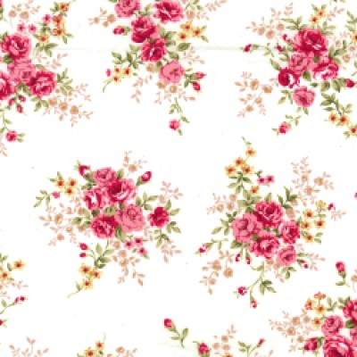 Marithe Rose and Hubble Floral Cotton Fabric