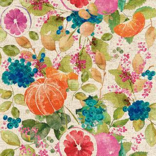 Digital Linen Canvas Fruit Bomb Fabric