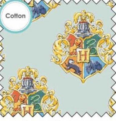 Harry Potter Water Colour Crest Cotton Fabric