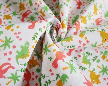 Roaming Dinos Poly Cotton Fabric