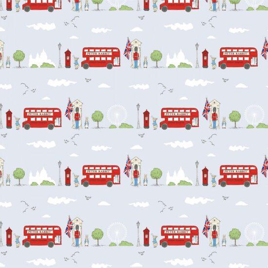 Peter Rabbit London Street Craft Cotton Fabric