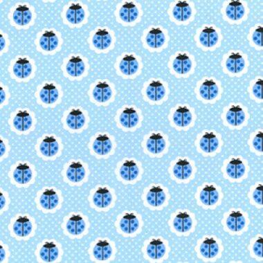 Pastel Ladybird Poly Cotton Fabric