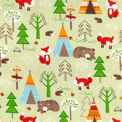 We Are Going On A Bear Hunt Rose and Hubble Cotton Fabric