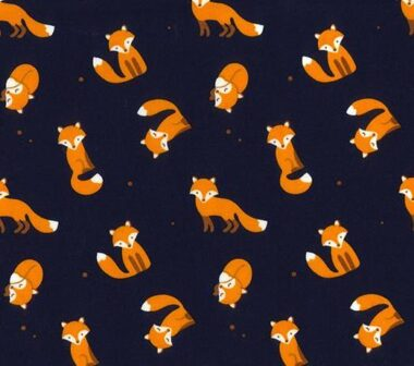Mr Fox Rose and Hubble Cotton Fabric