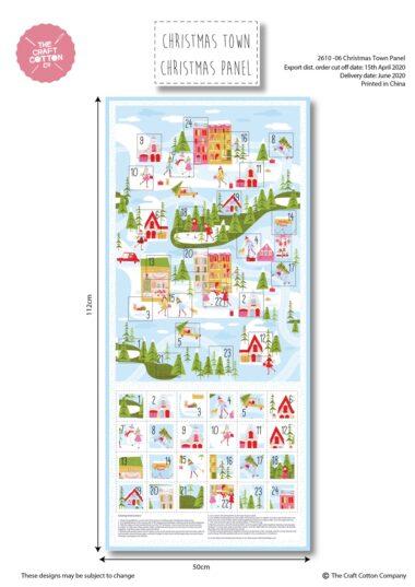 Christmas Town Lights Advent Panel