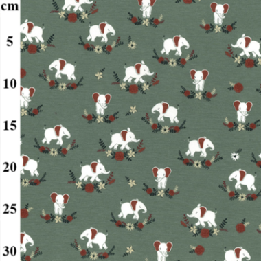 Nelly The Elephant John Louden Cotton Spandex Jersey Fabric