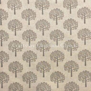 Grey Tree Mulberry Bush Linen Canvas Fabric