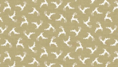 Scandi 4 Deer Scatter Fabric Makower Christmas