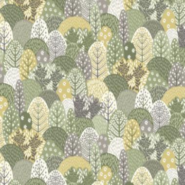 Clara`s Garden Trees Makower Cotton Fabric
