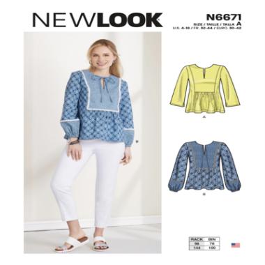New Look N6671 Misses Top Sewing Pattern