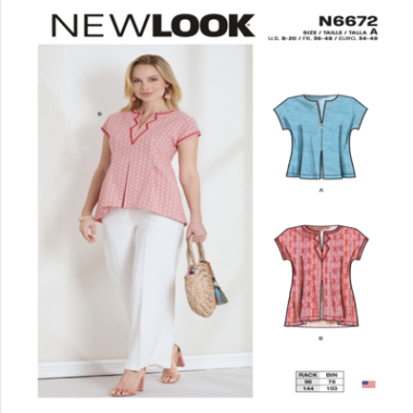 New Look N6672 Misses Top or Tunic Sewing Pattern