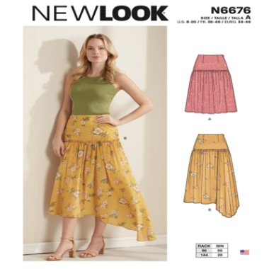 N6676 New Look Misses Skirts Sewing Pattern