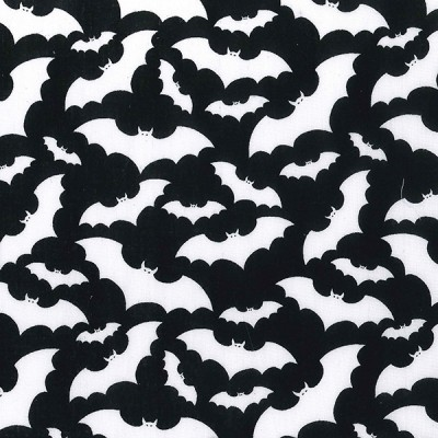 Bat Wings Halloween Poly/Cotton Fabric