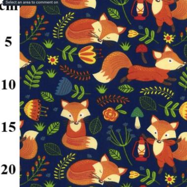 Fern Fox Poly Cotton Fabric