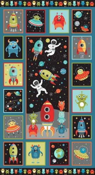 Space Panel Makower Cotton Fabric