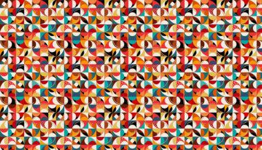 Folk Friends Makower Mosaic Cotton Fabric