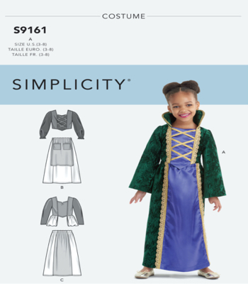 Simplicity Sewing Pattern S9161 Childrens Witch Costumes