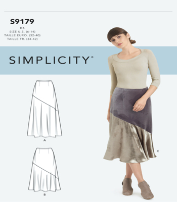 Simplicity Sewing Pattern S9179 Misses Skirts