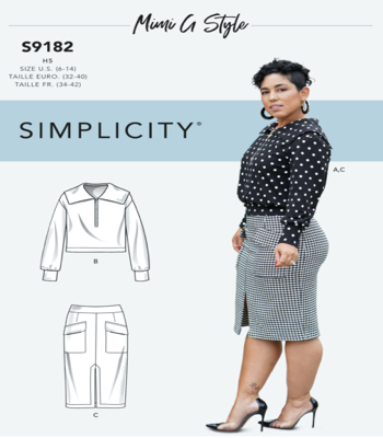 Simplicity Sewing Pattern S9182 Misses Knit Top & Skirt