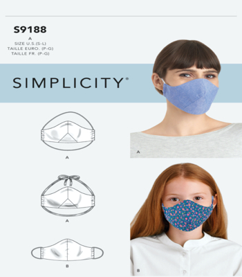 Simplicity Sewing Pattern S9188 Family Face Covers