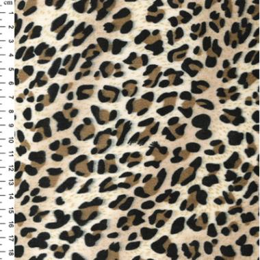 Leopard Velour Dress Fabric