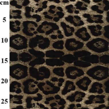 Dark Leopard Stretch Velvet Fabric
