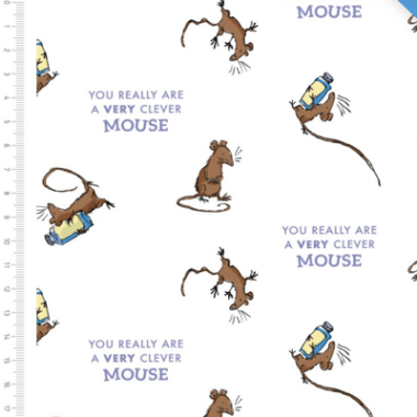 Clever Mouse Roald Dahl Cotton Fabric