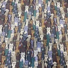 Cats Cotton Poplin Fabric
