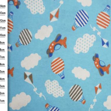Air Ballon Brushed Cotton Fabric