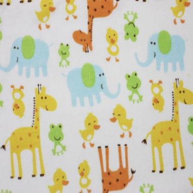 Animals Brushed Cotton Fabric