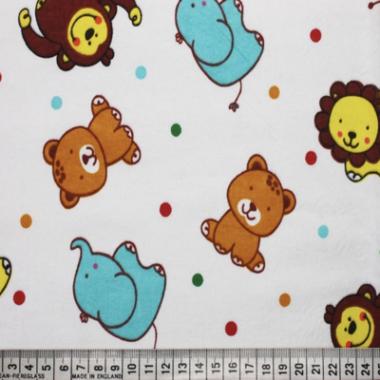 Zoo Brushed Cotton Fabric