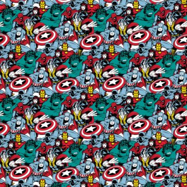 In Action Marvel Cotton Fabric