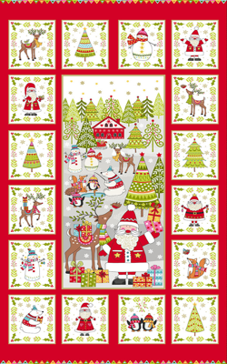 Festive Christmas Makower Christmas Fabric