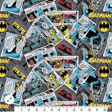 Batman Collage Cotton Fabric