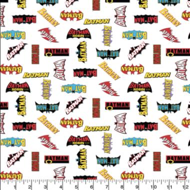 Batman Logo History cotton Fabric