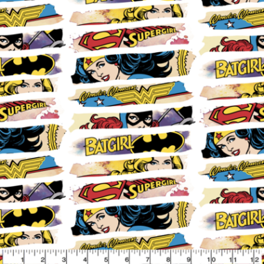 Heroines DC Comics Cotton Fabric
