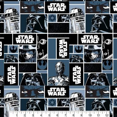 Star Wars Squares Cotton Fabric