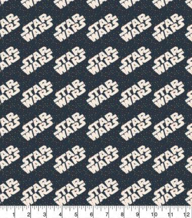 Star Wars Logo Cotton Fabric