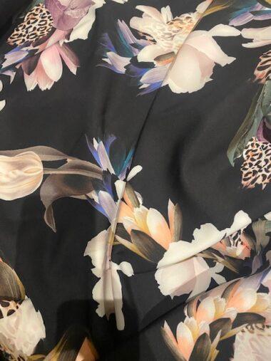 Barbi John Kaldor Stretch Crepe Dress Fabric