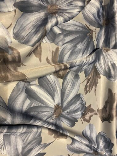 Santa Cruz John Kaldor Stretch Satin Dress Fabric