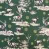 Woodland Christmas Rose and Hubble Cotton Fabric