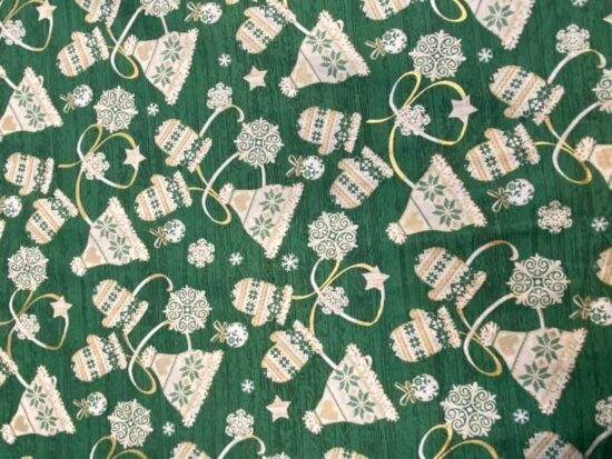 Gloves and Hats Christmas Rose and Hubble Cotton Fabric