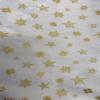 Snowflake Stars Metallic Rose and Hubble Fabric