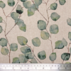 Watercolour Leaves Linen Look Fabric