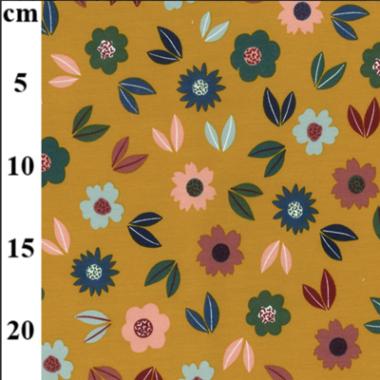 Flower Patch Jersey Dress Fabric John Louden