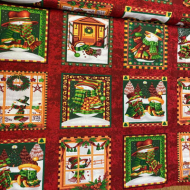 Seasons Greetings Fabric Panel by Fabri Quilt